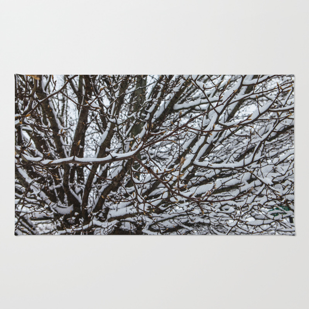 Vibrant Winter Tree Rug by Shewhospeakswithtrees RUG8542174
