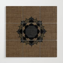 Lotus Mandala on Fabric Wood Wall Art