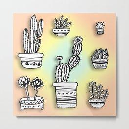 Succulents & Cactus Metal Print