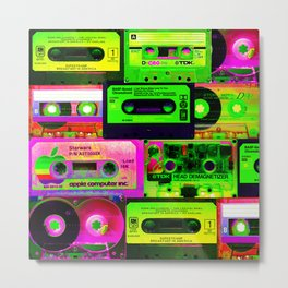 Cassetes Metal Print