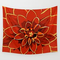 dahlia Wall Tapestries featuring Dahlia by Saundra Myles