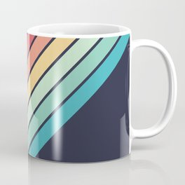 Lembona - Classic 70s Vintage Style Retro Summer Stripes Coffee Mug