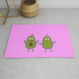 Avocados in love Rug