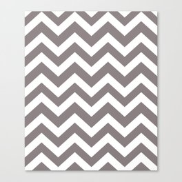 Rocket metallic - grey color - Zigzag Chevron Pattern Canvas Print