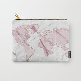 Wanderlust marble - pink stone Carry-All Pouch