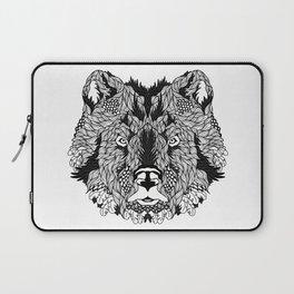 BEAR head. psychedelic / zentangle style Laptop Sleeve