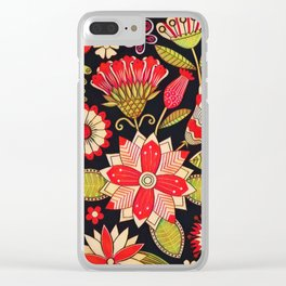Blooms Butterflies and Ladybugs Clear iPhone Case