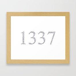 1337 Framed Art Print