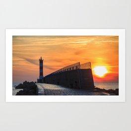 Light House at Port la Nouvelle South France Art Print