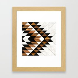 Urban Tribal Pattern 9 - Aztec - Concrete and Wood Framed Art Print