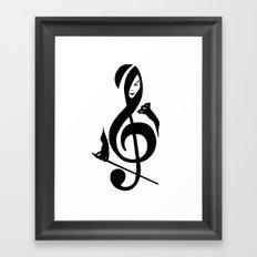 Music Girl Framed Art Print
