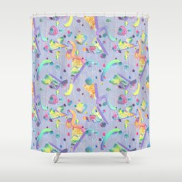 squiggle stones Shower Curtain