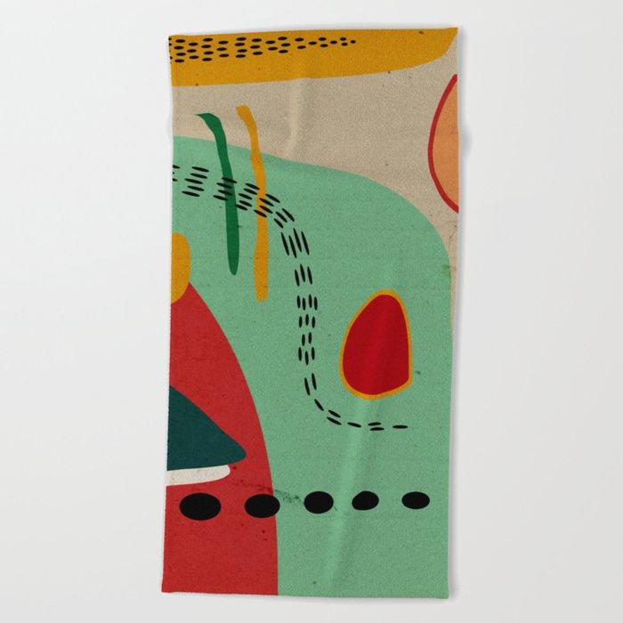 cores Beach Towel