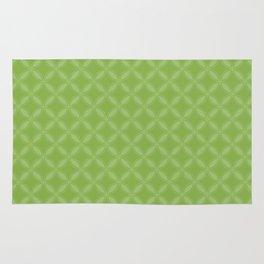 Greenery Green Geometric Circle Pattern Rug