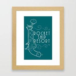 Rose Pistol Shirt Framed Art Print