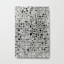 Grey Lines Pattern Metal Print