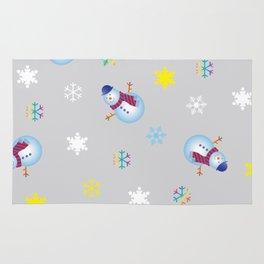 Snowflakes & Snowman_A Rug