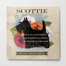 Scottie Seed Packet Artwork by Stephen Fowler Metal Print