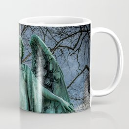 Angel Monument Watches Over Albany Rural Cemetery New York Coffee Mug