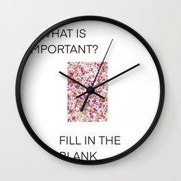 Fill in the Blank Wall Clock
