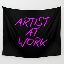 Artist at Work (pink) Wall Tapestry