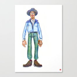 A Man with His Planner Canvas Print