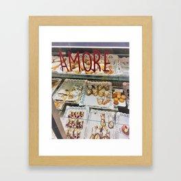 Amore Bakery Shop Window Framed Art Print