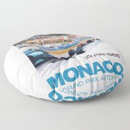 1966 MONACO Grand Prix Racing Poster Floor Pillow
