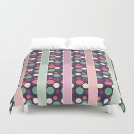 Circles and Stripes Decorative Pattern Duvet Cover