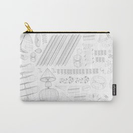 Wireframe Party Carry-All Pouch