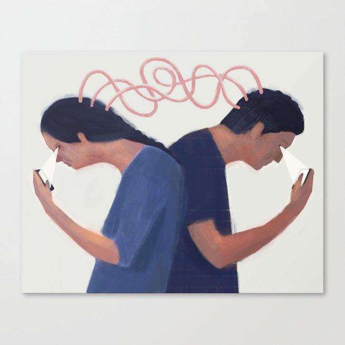 Particle Love Canvas Print