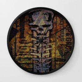 Rusty skull Wall Clock
