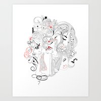 moulin rouge Art Prints featuring Rouge. by Various Formats
