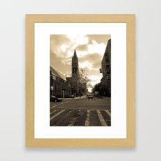 NYC streets Framed Art Print