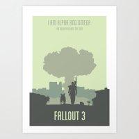 fallout Art Prints featuring FALLOUT by Carys Jordan