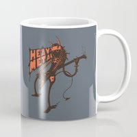 heavy metal Mugs featuring heavy metal by illusign