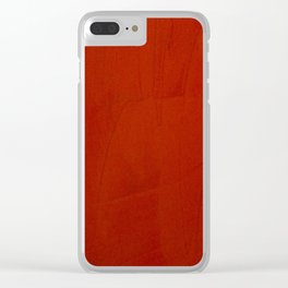 Italian Style Red Stucco Clear iPhone Case