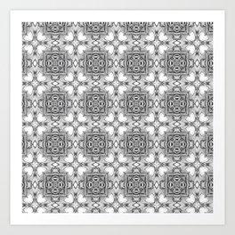 black white pattern Art Print