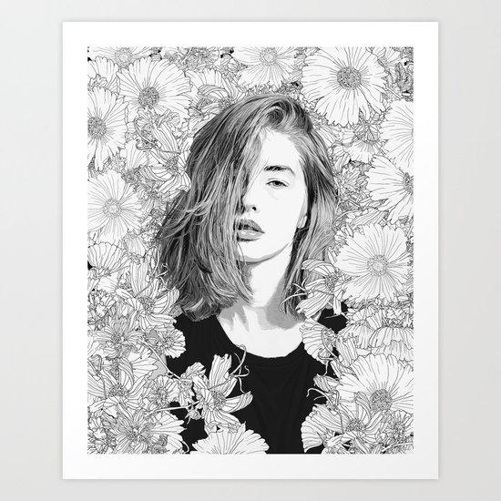 Garden Lounge Art Print