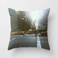 Streets of NYC Throw Pillow