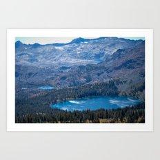 Mountain Top Lakes Art Print