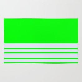 Lime Stripes Lavender Wall Rug