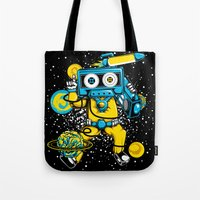 space jam Tote Bags featuring Space Jam Beats by playhouse