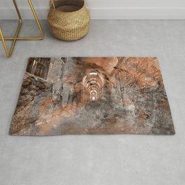 Acrylic Prison Corridor Rug