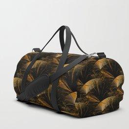 Festive golden shimmer pattern Duffle Bag