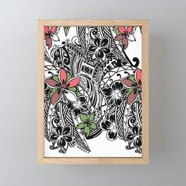 Polynesian Flora Touch Of Color Framed Mini Art Print