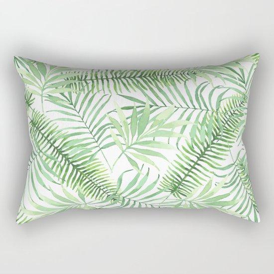 Tropical Branches Pattern 04 Rectangular Pillow