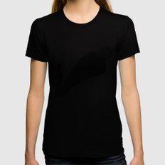 Two sides of Eren Jaeger Womens Fitted Tee Black LARGE