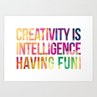 creativity Art Prints featuring Creativity  by DesignByDerek
