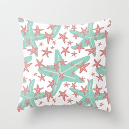 Starfish in pastel colors Throw Pillow